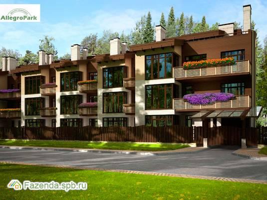 Малоэтажный жилой комплекс Аллегро-Парк, Приморский СПб. Актуальное фото.