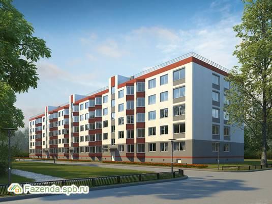 Малоэтажный жилой комплекс Ладожский берег, Всеволожский район. Актуальное фото.