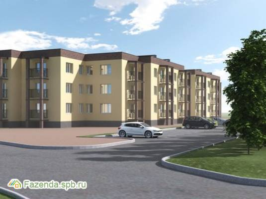 Малоэтажный жилой комплекс Новая Гатчина, Гатчинский район. Актуальное фото.