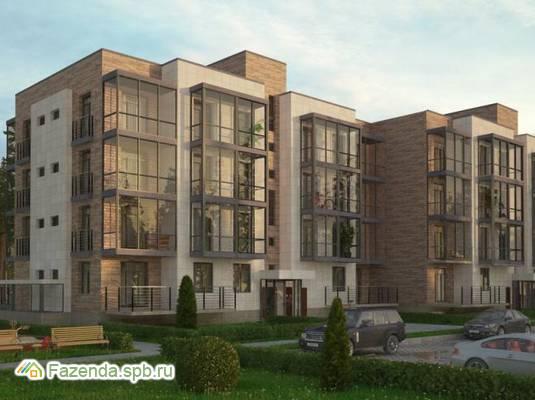 Малоэтажный жилой комплекс ГОРКИ ПАРК, Всеволожский район. Актуальное фото.