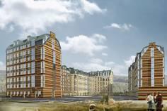 Рядом с Солнечный город расположен Малоэтажный жилой комплекс Петергоф