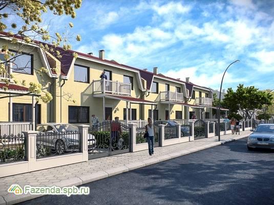 Малоэтажный жилой комплекс Есенин Village, Тосненский район. Актуальное фото.
