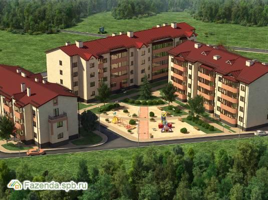 Малоэтажный жилой комплекс Апрель, Ломоносовский район. Актуальное фото.
