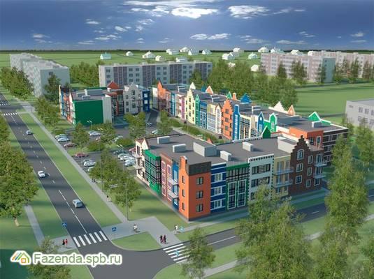 Малоэтажный жилой комплекс Бельгийский квартал, Ломоносовский район. Актуальное фото.