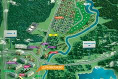 Рядом с Иннола парк расположен Коттеджный поселок  Константиновские пруды