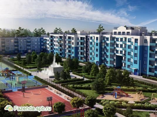 Малоэтажный жилой комплекс Дом с фонтаном, Всеволожский район. Актуальное фото.