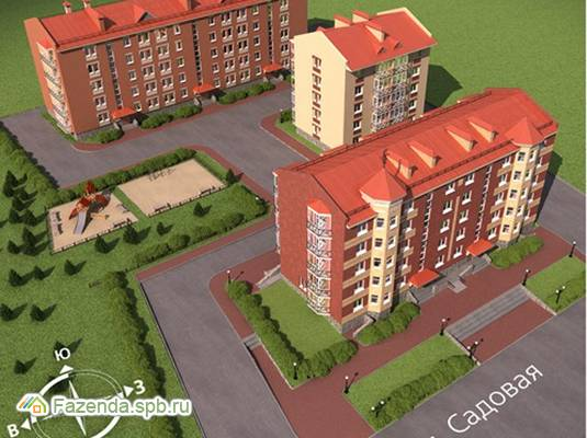 Малоэтажный жилой комплекс Садовая горка, Выборгский район.