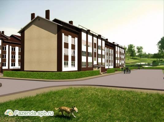 Малоэтажный жилой комплекс Шведские пруды, Всеволожский район. Актуальное фото.