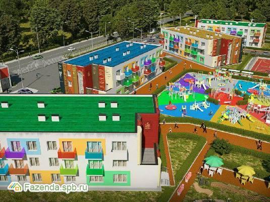 Малоэтажный жилой комплекс Город Детства, Гатчинский район. Актуальное фото.