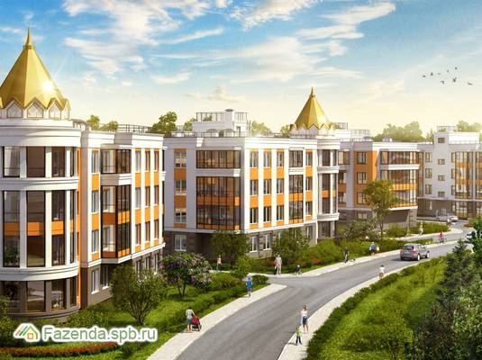 Малоэтажный жилой комплекс Золотые купола, Всеволожский район. Актуальное фото.