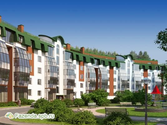 Малоэтажный жилой комплекс Земляничная поляна, Всеволожский район. Актуальное фото.