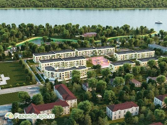 Малоэтажный жилой комплекс Дубровка на Неве, Всеволожский район. Актуальное фото.