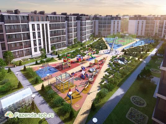 Малоэтажный жилой комплекс СолнцеPARK, Пушкинский район. Актуальное фото.