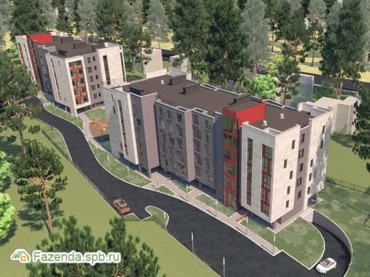 Малоэтажный жилой комплекс Дом на Коралловской, Всеволожский район. Актуальное фото.