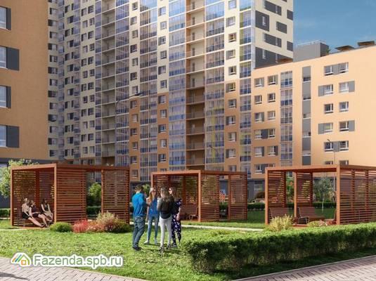 Жилой комплекс ID Мурино, Всеволожский район. Актуальное фото.