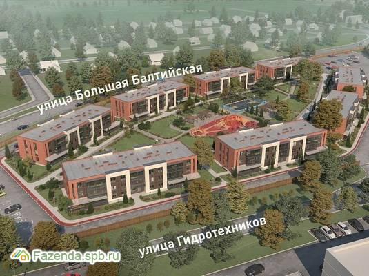 Малоэтажный жилой комплекс ЕТА Village Новоселье, Ломоносовский район. Актуальное фото.