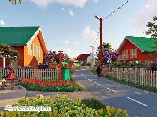 Коттеджный поселок  Голландская Деревня, Гатчинский район. Актуальное фото.