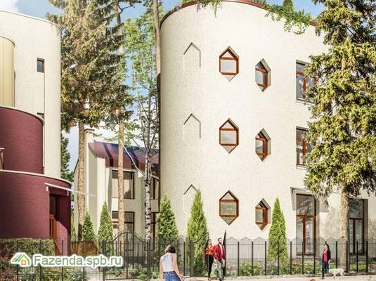 Малоэтажный жилой комплекс Прибрежный квартал, Приморский СПб. Актуальное фото.